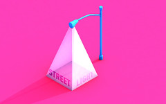 Street Light (Jurrut) Tags: cinema4d street lamp light streetlight color photoshop