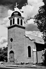 Cerrrillos, New Mexico (AbandonedRoadWarrior) Tags: new travel southwest church mexico nikon turquoise trail adobe f nikonf cerrillos