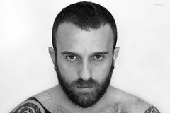 Maggio 2016 (Kumo Moku) Tags: bear blackandwhite hairy selfportrait beard cub monocromo autoritratto biancoenero scruff canoneos650d