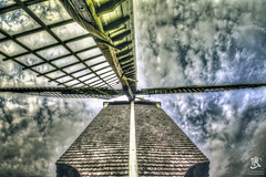 The point of View, (Tristan Roebersen) Tags: tristan roebersen 70d eos canon troebersen epic cool windmill picture hdr view mill wind sky blue clouds cloud skies wood structure nice object awesome chill high point shot woods old history
