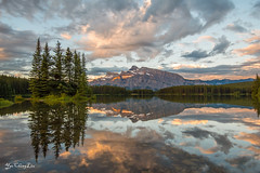 Two Jack Lake Sunrise (YaochingLiu) Tags: twojacklake sunrise banffnationalpark ngc alberta canada reflection