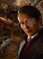 Mads Mikkelsen as Inventor (Onurah Art) Tags: art illustration photomanipulation digitalart digitalpainting steampunk madsmikkelsen iphoneart onurah