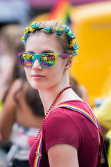 Pride 2016 (laskaproject) Tags: gay party portrait toronto ontario canada men love colors girl smile face sunglasses fashion proud wow lesbian happy costume clothing amazing cool rainbow women colorful flag sony feathers 85mm happiness pride dressedup depthoffield transgender celebration prideparade lgbt bisexual shallow equality flowerwreath 2016 loveislove flowercrown lgbtq prideto sonya7