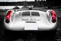 """""""Little Bastard"""" (Frd.C) Tags: red white black car race back noiretblanc voiture racing course porsche supercar 550"""