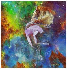 Galactic Dance - Danza Galactica (Leo Bar) Tags: galaxy painting texture compositing colors creative ethereal universe relief leobar pixinmotion impressionistic impasto netartii awardtree danza texturas untouchabledream