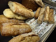 Brown and white baguettes (seikinsou) Tags: summer food brown white breakfast bread restaurant hotel midsummer sweden diningroom baguette meal roll umea scandic