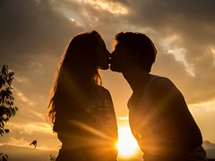 Take-off of love (adrien_huisman) Tags: sunset love kiss young