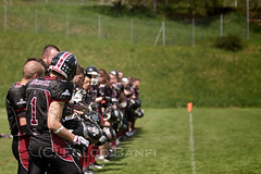 American Football - Swiss C League - Neuchatel Knights 14 - Lugano Lakers 20 (losvizzero) Tags: grass sport ball outdoors switzerland football helmet competition ne knights numbers american contact lakers lugano neuchtel ch pads atfa