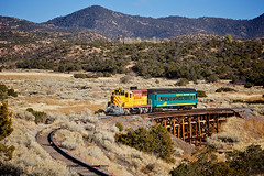 En Route to Santa Fe (ericwill) Tags: trestle santafe train passenger nm lamy geep santafesouthern gp16 sfs93