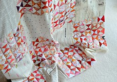 Hour glass quilt - WIP / Play fair and let me know when you use my photo. Thanks (balu51) Tags: pink red white stash quilt sewing wip mai quilting patchwork hst 2013 halfsquaretriangles hourglassquilt fabricswithtext stashpactii checkerboardlayout copyrightbalu51 playfairaskbeforeusingmyphotos