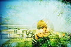 Double exposure of my friend Bobby (Life Prowler) Tags: lomography doubleexposure multipleexposure holga135
