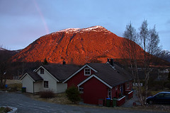 Red Mountain (Askjell's Photo - @work - very slow internet) Tags: sunset norway canon photo flickr sundown image picture volda rotsethornet newmindspace throughtheviewfinder askjell