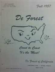 DeForest of California 1957 Catalog Cover (Cathygio) Tags: california old cute face advertising happy head map antique cartoon kitsch housewares retro 1950s 1957 pottery catalog advertisment whimsical anthropomorphic anthro kitchenware holthoward deforest starnes barbcutie flickrandroidapp:filter=none