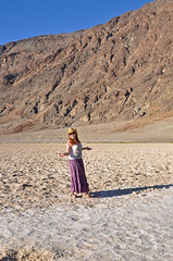 Me in Badwater (atsubor) Tags: california usa mountains me deathvalley badwater