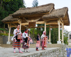 The entrance of the village ... (Rita Willaert) Tags: china tribal guizhou miao minority etnic anshun longhornmiao southwestchina minderheden villagelongga