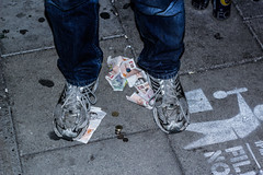 - (Alex Hughes-Games) Tags: england money shoes dirty trainers