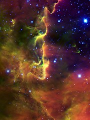 Part of the Lagoon Nebula Wallpaper (sjrankin) Tags: wallpaper stars edited background nasa m8 tablet gemini retina nsf nationalsciencefoundation lagoonnebula geminiobservatory retinaresolution geminiaura 18june2013