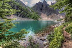 Lake Agnes (Fil.ippo (AWAY)) Tags: park travel panorama lake water lago nikon national banff agnes acqua hdr filippo paesaggio waterscape sigma1020 d5000 filippobianchi