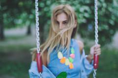seesaw's magic (anastasia zorkova) Tags: portrait girl skinny bokeh modeling outdoor moscow jewellery blonde trend