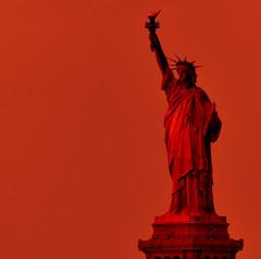 The First Lady of America [Crop] (Smith-Bob) Tags: nyc usa ny newyork france statue lady america photoshop liberty us manhattan ps icon filter gift present independence iconic bigapple ladyliberty thebigapple photofilter frédéricaugustebartholdi