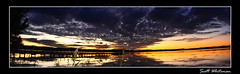 Macdonalds Panorama 1 (Scott Whiteman) Tags: sunset panorama lake water nikon purple vivid nsw centralcoast tuggerahlake d7000