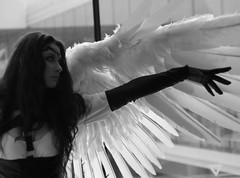 fallen angel (mevrain) Tags: blackandwhite angel cosplay otakon blackandwhitephotography thingsisee
