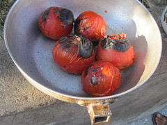 BBQ-ed tomatoes - Armenian style (dirk huijssoon) Tags: armenia yerevan armenie khorvirap ancientchristianity