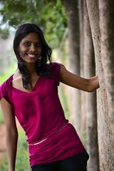 Seema on the Green Walkway (mynameisharsha) Tags: girls portrait india girl beautiful beauty 50mm prime nikon pretty gorgeous bangalore babe chick gal stunning 18 50mmf18af d7100 mynameisharsha