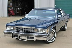 1977 Cadillac Coupe deVille (smokuspollutus) Tags: blue dark whitewalls gm exterior interior cadillac 1977 deville coupe v8 425 rwd cbody