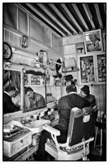 Barber shop in Meknes (ganagafoto) Tags: africa people bw travels gente northafrica bn barbershop morocco marocco viaggi meknes barbiere ganagafoto nordafrica