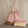 Sock Knitting Bag (pbtajr) Tags: pink floral bag handmade sewing striped drawstringbag sockknittingbag elementsorganizer zipperedaccessorybag