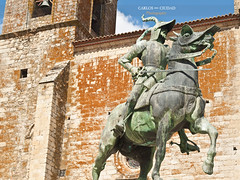 Francisco Pizarro equestrian statue (Carlos Ciudad - Stock Photography) Tags: espaa horse history peru church colors statue bronze bells caballo spain europa europe stones iglesia olympus colores escultura plazamayor ecuestre estatua equestrian historia gettyimages trujillo piedras incas conqueror bronce campanas conquistador mainsquare extremadura caceres pizarro atahualpa santamara e520 gettyimagesspain cctrillastock