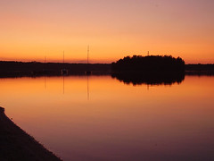 Lake (Hard*Core*Bunny) Tags: world travel sunset sky sun lake reflection water landscapes atmospheric
