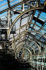 St. Stephen's Green roof (Rob Hurson) Tags: ireland dublin clock glass architecture pentax shoppingcentre ironwork hdr sigma30mmf14 k30