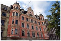 rue Elizabetes Riga en Lettonie (vazyvite) Tags: world art heritage state baltic latvia unesco nouveau pays eclectic league riga hanse hanseatic lettonie ligue balte guilde jungenstil hansatique