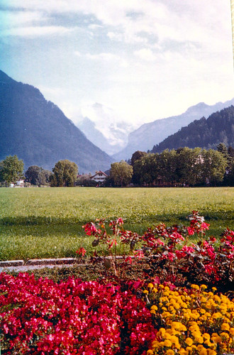 Jungfrau from the Hoheweg in Interlaken