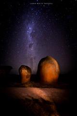Australia (john white photos) Tags: longexposure sky night rocks space australian australia formation southaustralia milkyway murphyshaystacks