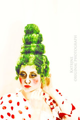 Project 31. #18 red and green (Frulein Maximiliane) Tags: red portrait green project photography costume theater december theatre makeup special wig backstage porcelain sweeneytodd portraitphotography 2013 project31 31project