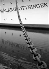 Mälardrottningen (*Kicki*) Tags: water boat sweden stockholm chain explore riddarholmen svartvitt flickrexplore explored mälardrottningen riktning fotosondag fs140202