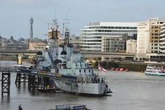 HMS Belfast (PD3.) Tags: uk england london thames river war ship ships sightseeing navy royal belfast seeing sight battleship naval hms