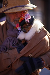 The old man and his beloved daughter (kazs2307) Tags: dog 犬 成人式 日本髪