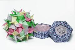 Сладкая парочка ФМ (Maslova Halyna) Tags: rose soap flora origami box kusudama tomokofuse ekaterinalukasheva