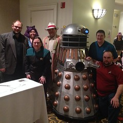 The Doctor helped us capture a Dalek that was after Jean Luc Picard. #GalaxyFest / on Instagram http://instagram.com/p/kzjA03MmtS/