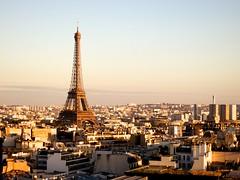 Eiffel Tower (alpinestranger) Tags: paris france dusk eiffeltower arc latoureiffel fr arcdetriomphe 2012 s100 theironlady ladamedefer arcdetriomphedelétoile 52260mm
