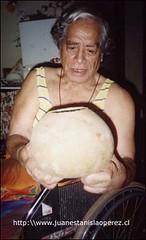 Kiko Paté, el más importante sabio rapa núi en el tema de la música y danzas ancestrales de su cultura.
