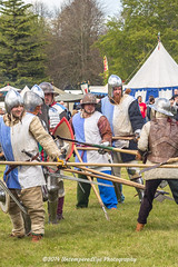 [2014-04-19@15.16.24a] (Untempered Photography) Tags: history costume fight helmet battle medieval weapon sword knight shield combat armour reenactment skirmish combatant chainmail spear canonef50mmf14 perioddress polearm platearmour gambeson poleweapon mailarmour untemperedeye canoneos5dmkiii untemperedeyephotography glastonburymedievalfayre2014