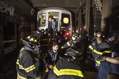 NYCT_7059 (MTAPhotos) Tags: subway queens f woodside derailment newyorkcitytransit