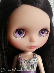 Blurple Raspberry Glitter Splash by Oly in Wonderland