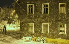 Goodnight, dear friends!:) (:Linda:) Tags: house snow wheel night germany village thuringia six rhomb brden slateshingled