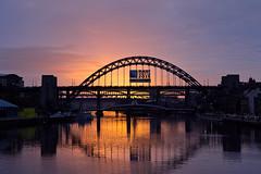 145A5167 (KristinaLilith) Tags: bridge sunset sky river newcastle tyne